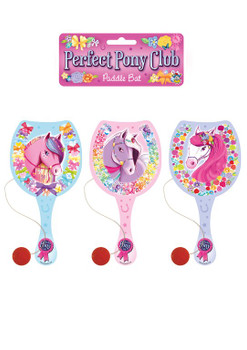 22cm Pony Wooden Paddle Bat and Ball Game