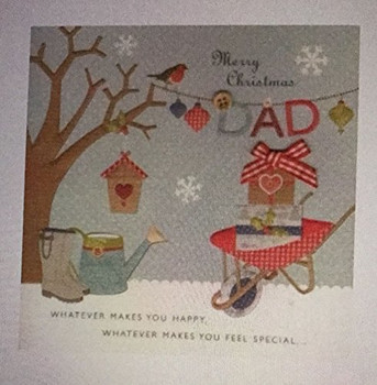 Dad at Christmas, Christmas Greetings Bunting Card