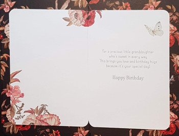 Granddaughter Birthday Card Fairies On Flower Beautiful  Butterfly