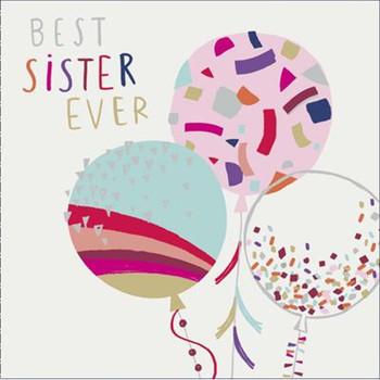 Best Sister Ever Birthday Card