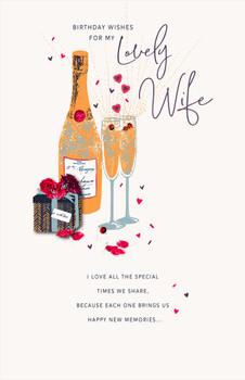 Lovely Wife Handmade Gift Birthday Card