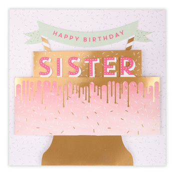 3D Pop Up Sister Cake Birthday Card