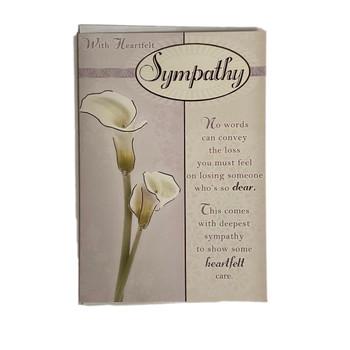 With Heartfelt Words Sympathy Card