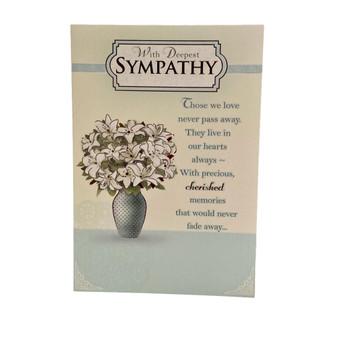 Deepest Sympathy Words Card Condolence
