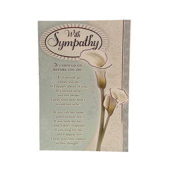 Soft Whispers Sympathy Card Poem Words