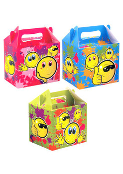 Pack of 12 Smile Design Lunch Party Boxes