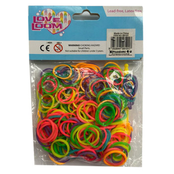 Love Loom Colourful Bands Packet Mixed Approx 300 Per Pack