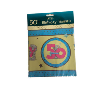 Me To You Happy 50th Birthday Bear Banner