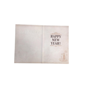 Happy New Year, Christmas Greetings Card Lovely Verse