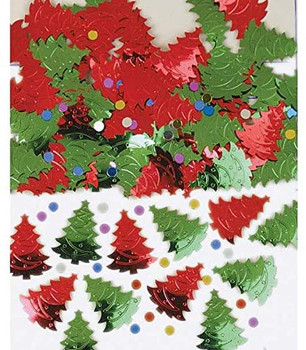 Christmas Tree Confetti Pack Red Green