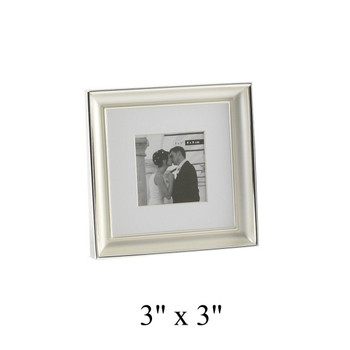 Deluxe Silver Plated Wedding Gift Box Photo Frame 8 x 8cm Wedding Favour