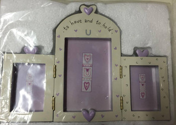 To Have and to Hold Triple Photo Frame