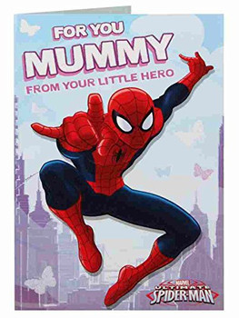 Mummy Spiderman From Your Little Hero Birthday Card