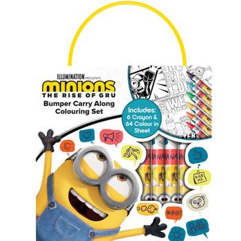 Minions Movie Bumper Carry Along Colouring Set