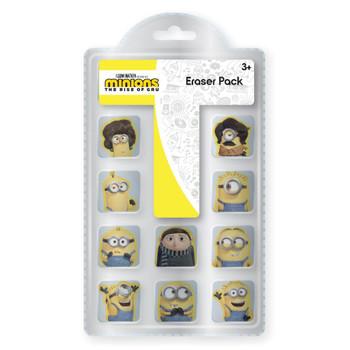 Pack of 10 Minions Movie Eraser