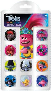 Pack of 10 Trolls Movie Eraser