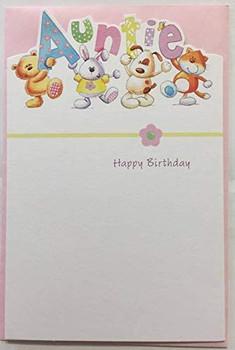 Cute Die-cut Auntie Birthday Card