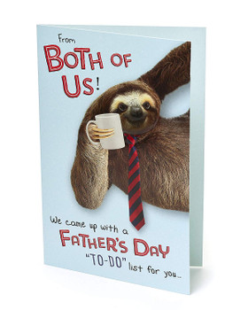 From Both Of Us Sloth Father's Day Card