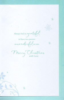 Mum & Dad Traditional Christmas Greeting Card Luxury Embellished Cards