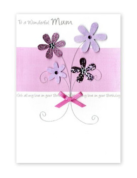 Second Nature Luxury Greeting Card for a Mum's Birthday
