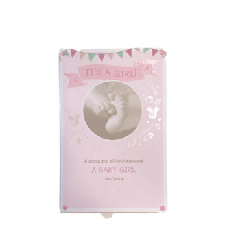 Its's A Girl New Baby Card Wishing You All Happiness