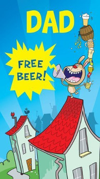Funny Father'S Day Greeting Card Free Beer {DC}