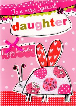 Daughter Happy Birthday Card Hide and Seek
