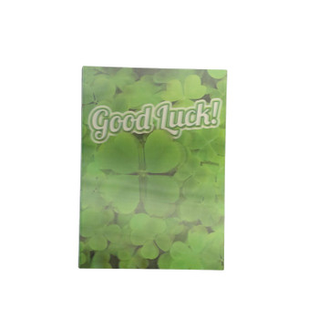 3D Holographic Good Luck Card