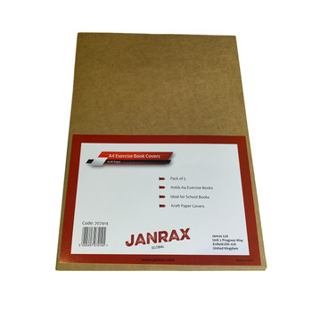 Pack of 50 A4 Kraft Paper Exercise Book Covers by Janrax