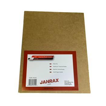 """Pack of 50 9x7"""" Kraft Paper Exercise Book Covers by Janrax"""