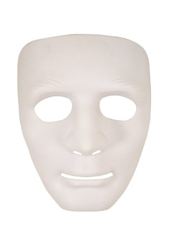 Deluxe White Robot Mask