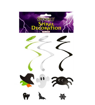 Pack of 3 Piece Hanging Spiral Decorations Set
