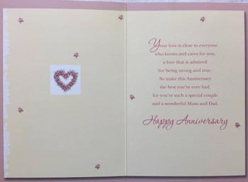 Anniversary Wishes Mum & Dad Greetings Card