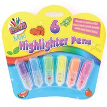 Just Stationery Scented Mini Highlighter (Pack of 6)