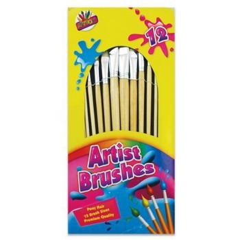 Artbox Artist Natural Bristle Brush (Pack of 12)
