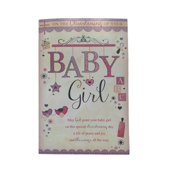 On The Christening Of Your Baby Girl Card