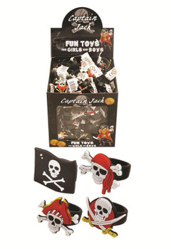 Skull and Crossbones Pirate Rings 2x3 cm