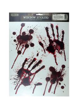 Stickers Window Halloween Blood Decoration Hand