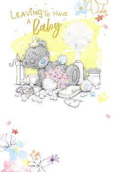 Leaving To Have A Baby Bear With Talc Card