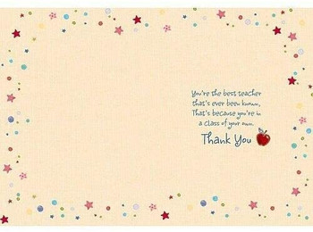 Wishing Well Studios Thank You Teacher Card You're The Best!