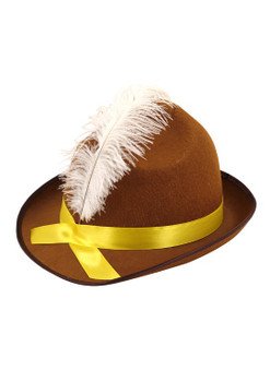 Beer Festival Hat with Feather For Adult