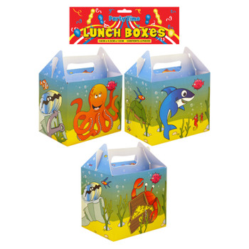 Pack of 6 Lunch Boxes Sealife Design