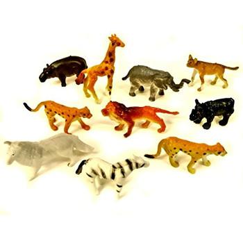 10 Assorted Mini Jungle Animal Figures