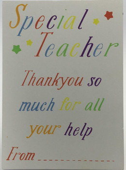 A Gift for your Special Teacher Wooden Plaque