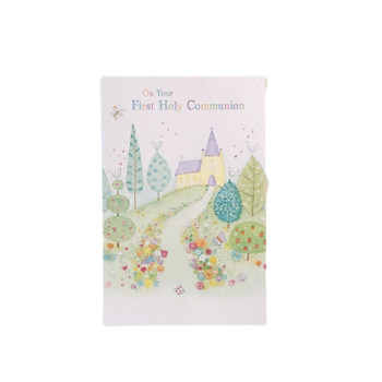 On Your First Holy Communion Card with Lots Of Love