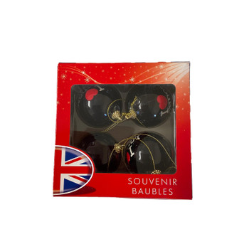 Pack of 4 I Love London Illustrated Souvenir Bauble