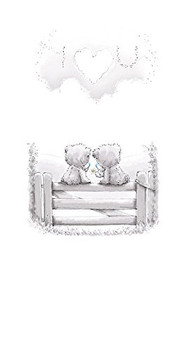 I LOVE YOU Cute Me to You Bear Whispers New Greeting Card