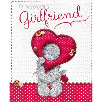 Me to You For My Gorgeous Girlfriend Bear & Heart Valentine Card Tatty Teddy