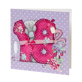 18th Birthday Me to You Bear Gift Tag