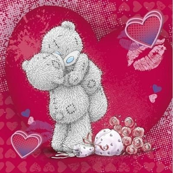 Me to You Tatty Teddy Bear Hearts Hugs & Kisses Love Valentines Gift Tag